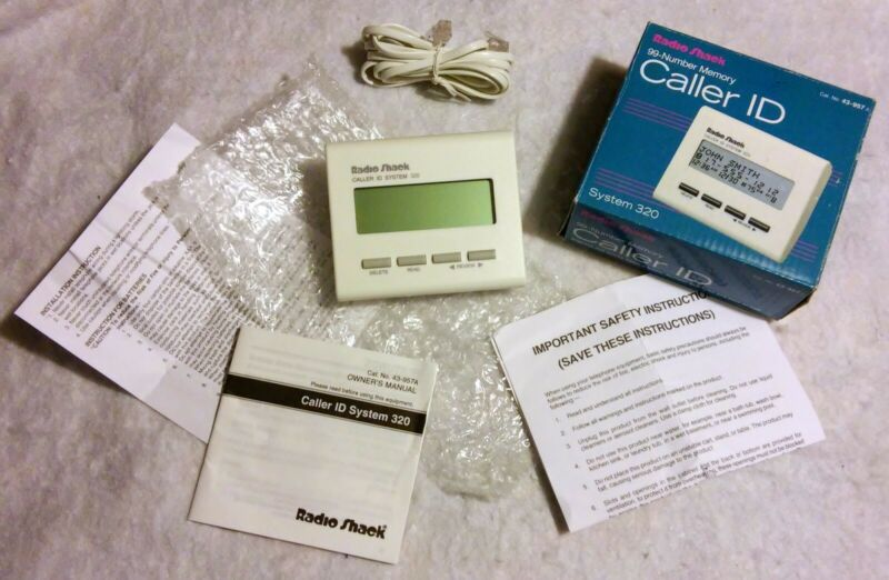 NEW VINTAGE - 43-957 RADIOSHACK CALLER ID SYSTEM 320 - TESTED