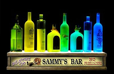 24 Led Liquor Bottle Display Bar Display Shelf - Personalized No Freeloaders