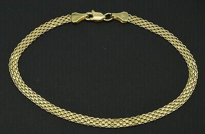 14k Yellow Solid Gold Bismark-Link Bracelet 3.2mm 7'' or 7.5'' (Bismark Link)