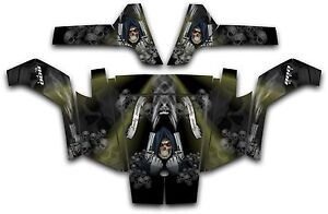 Polaris-RZR-800-UTV-Wrap-Graphics-Decal-Kit-2007-2010-Reaper-Revenge-Olive-Green