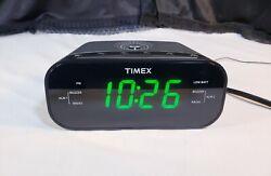 Timex T231 AM/FM Dual Alarm Clock Radio with 1.2-Inch Display and AUX ~ EUC!!!