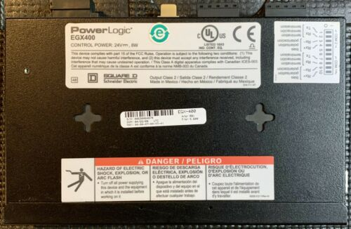 UNUSED SURPLUS/ MINT CONDITION, SQUARE D POWERLOGIC EGX400 ETHERNET GATEWAY 24V - $219.95