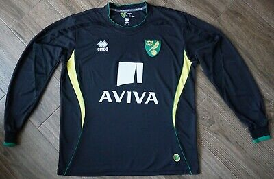 Norwich City 2012 2013 Away Football Soccer Jersey Shirt Long Sleeve Kit Maglia image