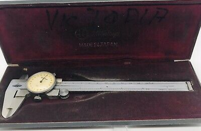 Mitutoyo 6 Dial Caliper 505-255-vd6 With Hard Factory Case