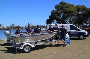 Boat outboard motor service and repairs with free sunnies.