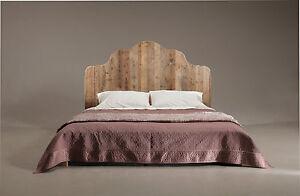 Letto matrimoniale legno abete stile vintage misure 206x180 testata alta 150 cm - Testiere letto legno ...