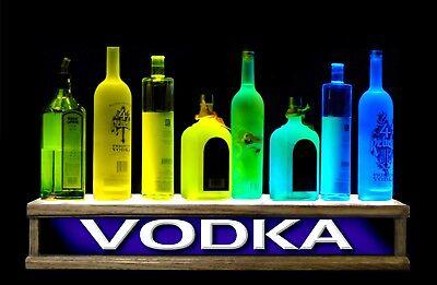 Rf Remote Control24 Lighted Liquor Bottle Display - Color Led Vodka Bar Sign