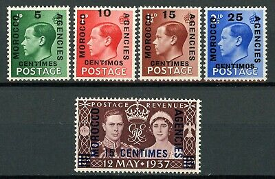 Stamps Great Britain Offices in Morocco, Scott # 78-82 Mint NH