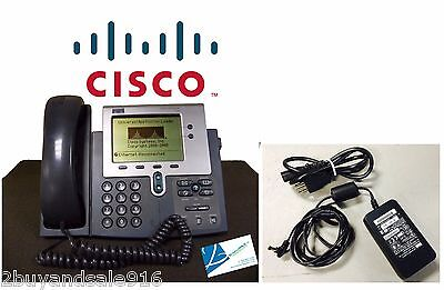 Cisco Cp-7940g 7940g Voip Poe Ip Business Phone W Handsets And Ac Adapter