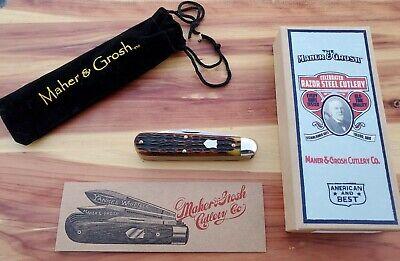 GREAT EASTERN GEC MAHER & GROSH ANTIQUE YANKEE WHITTLER KNIFE 1/114 SFO 781317