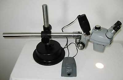 Bausch Lomb Stereoscopic Stereo Zoom Microscope With Industrial Boom Stand