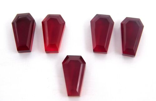 10X17 MM Coffin Shape Lab Created Garnet Cut Loose Gemstone For Jewelry P-1970