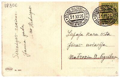 Latvia Lettland pc TPO cancel STENDE MAZIRBE un OTRADI 31.12.1926.