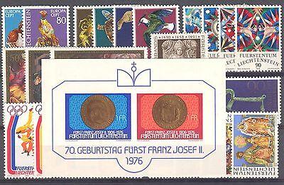 LI - LIECHTENSTEIN 1976 complete year set MNH