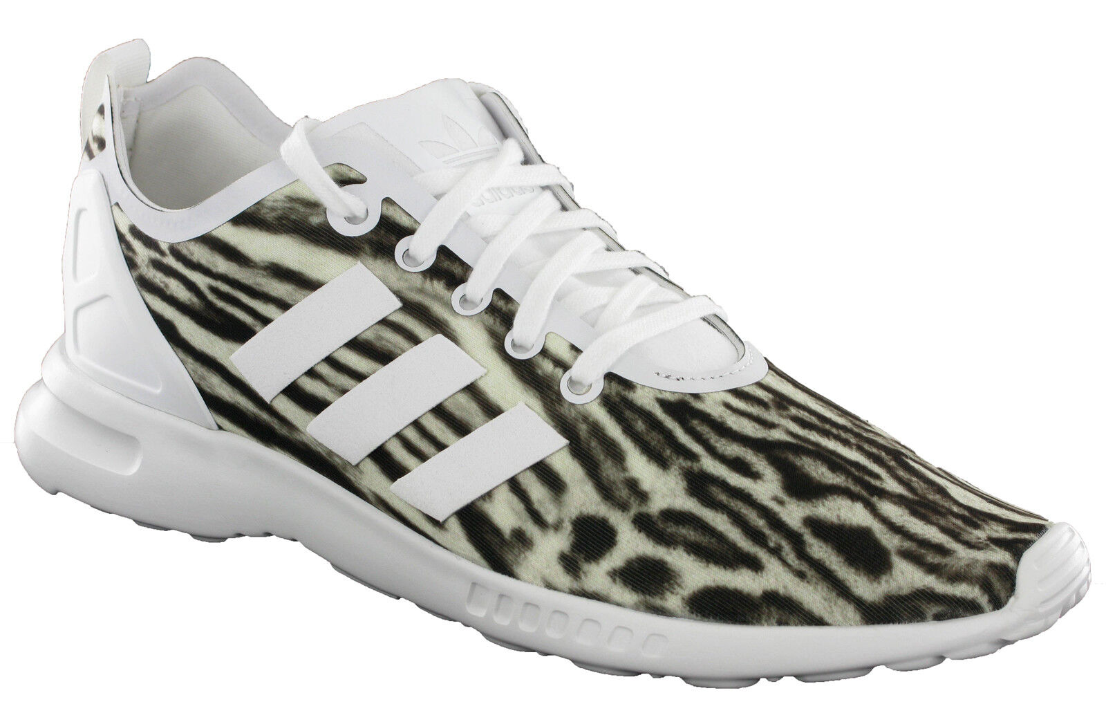 Details about Adidas ZX Flux ADV Smooth Trainers Sports Womens Lace White Zebra AQ5645