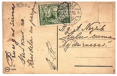 "Latvia Lettland pc with cancel VIDALE ""A"" 23.12.1939."