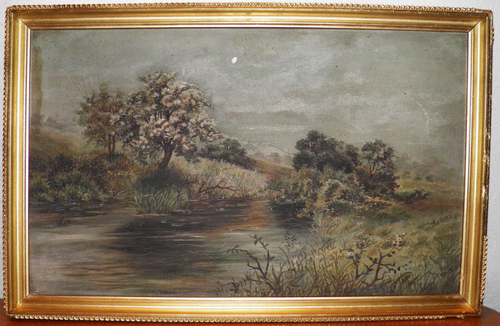 Original 1800 s Oil On Board Painting Iconic Landscape Scene Framed 40.00 OFF - $138.84