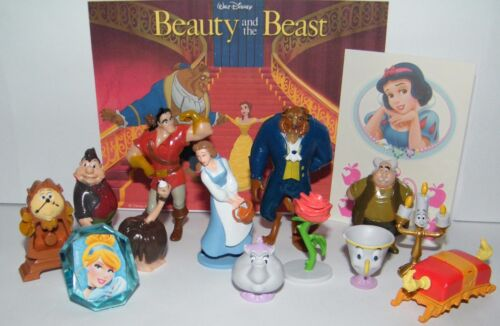 Disney Beauty and the Beast Movie Party Favors Set of 14 Figures, Ring, Tattoo!