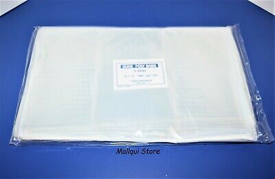 100 CLEAR 10 x 12 LAY FLAT OPEN TOP POLY BAGS PLASTIC PACKING ULINE BEST 1 MIL