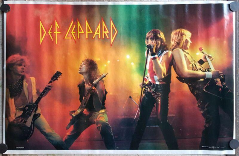 Def Leppard live poster 1983 ORIGINAL unused approx 23 x 35 vintage 80