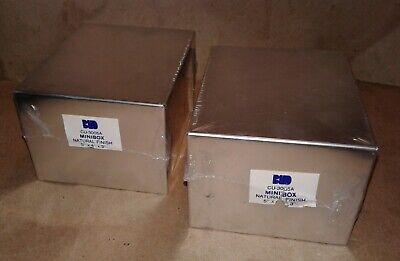 Box Project Minibox 5 X 4 X 3 Exterior Natural Aluminum Finish Lot2