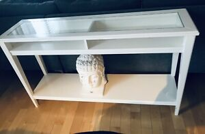 Beautiful white sofa table