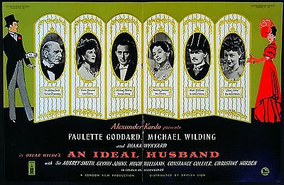 AN IDEAL HUSBAND 1947 Paulette Goddard, Michael Wilding OSCAR WILDE TRADE ADVERT