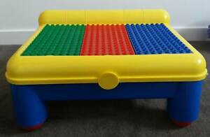 Stack Able Building Block Table for Lego Duplo Kids Construction Play