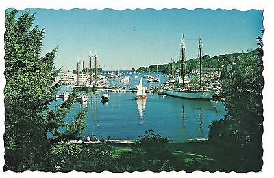Windjammers SAILBOATS Sail Boats in HARBOR CAMDEN Maine ME Postcard 1980