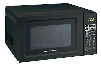 700 Watts Digital Black Microwave Oven   Proctor Silex 0.7 Cu.ft Capacity
