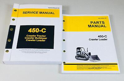 Service Manual Set For John Deere 450c Crawler Loader Parts Tech Repair Catalog
