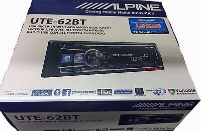 Alpine UTE-62BT Car Digital Media Receiver,iPhone/USB/Bluetooth/Pandora