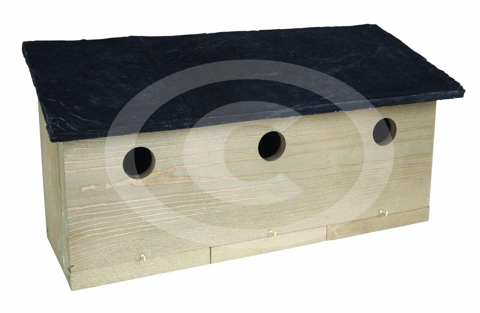 Norfolk Sparrow Nest Box for Wild Bids Multi Hole Entrance 21.5cm Height Gardman
