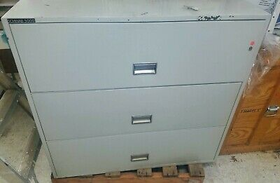 Schwab 5000 3 Drawer Lateral File Fireproof 43x 20.5x 41h