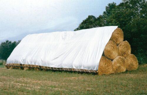 Farm Tough White/Silver Tarp - UV 6.0 oz. (Mult Sizes)