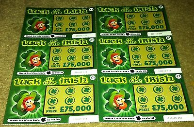 3 Fake Joke Lottery Scratch Cards Adult New Funny