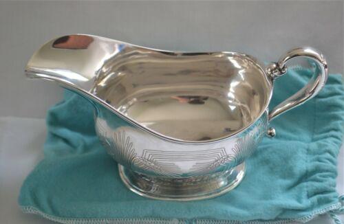 Tiffany Arts & Crafts Era Sterling Silver Wheat Motif Gravy Boat