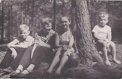 1950s Children in forest boys girls fashion friends old Russian Soviet photo