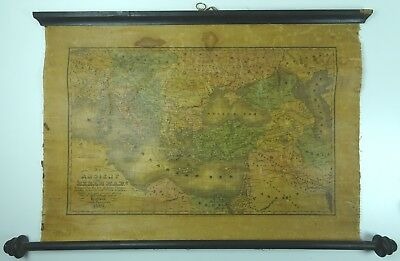 An Ancient Or Bible Map E Huntington Hartford Connecticut  MEDITERRANEAN 1831