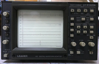 Leader Lv5152da Hd Multiformat Waveform Monitor 1080i