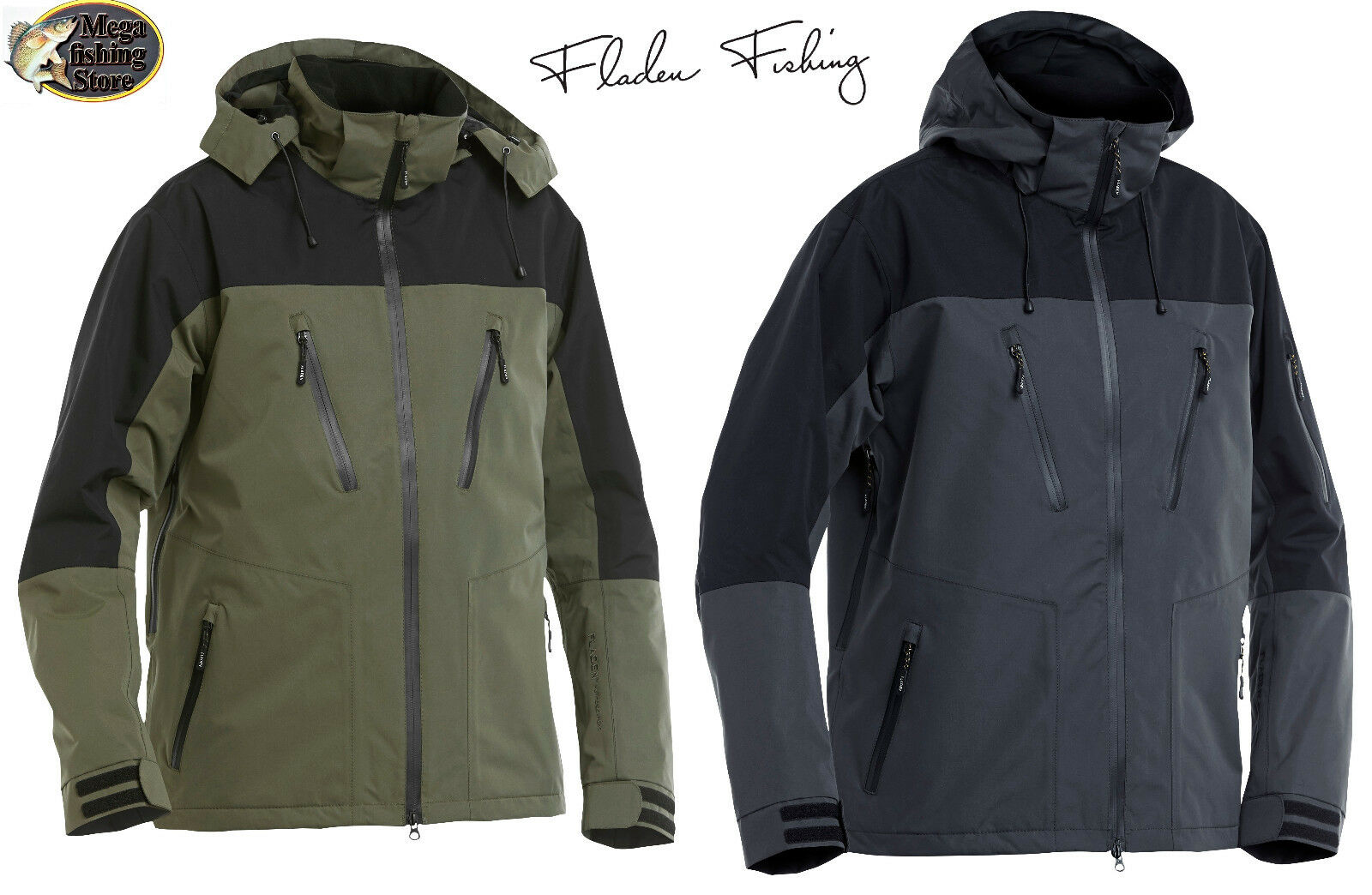 Fladen Authentic 2.0 Outdoor Jacke / Freizeit & Angeljacke Wind- & Wasserdicht