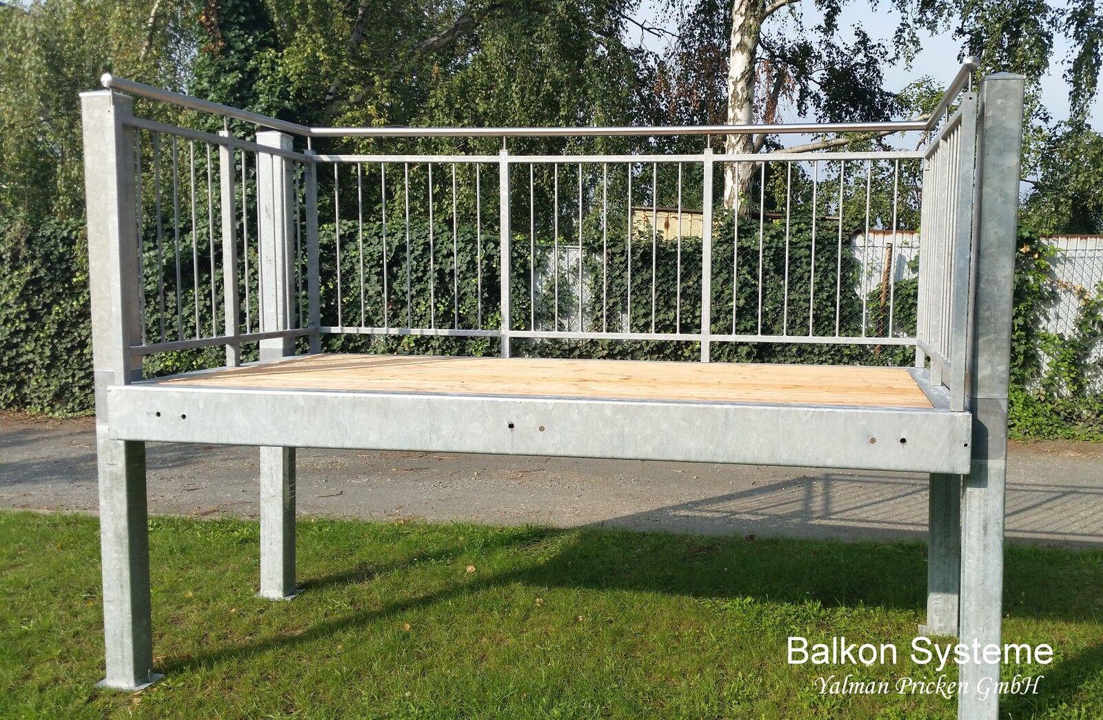 balkon bausatz fertigbalkon anbaubalkon stahl feuerverzinkt wunsch ma eur 630 00 picclick de. Black Bedroom Furniture Sets. Home Design Ideas