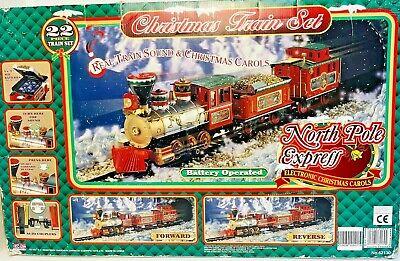 Christmas Train Set 1998 North Pole Express Realistic Train Sounds & Carols