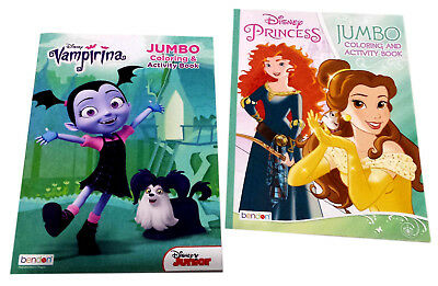 Disney Princess Coloring Book Vampirina Disney Junior Activity Books Set of 2
