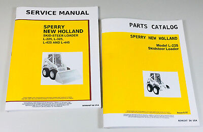 New Holland L225 Skid Steer Service Parts Manuals Set Shop Repair Catalog Book