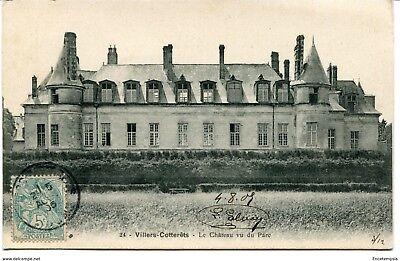 CPA - Carte postale - FRANCE-Villers Cotterêts - Le Château vu du parc -1905