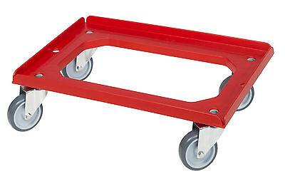 Transportroller Transportwagen Rolli für Kisten 60 x 40 cm mit 4 Lenkrollen