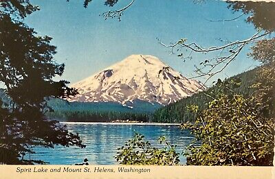 Mt. St. Helens & Spirit Lake Before Volcanic Eruption, Vintage Postcard