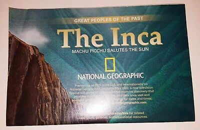 National Geographic Magazine Map, May 2002, The Inca FREE SHIPPING