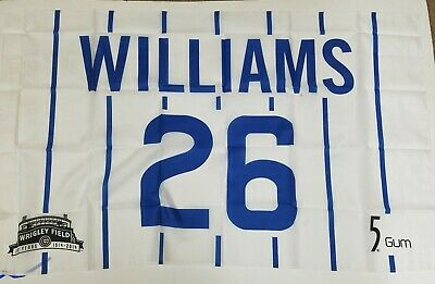 SANDBERG WILLIAMS JENKINS CHICAGO CUBS RETIRED NUMBER REPLICA FLAGS SGA Chicago Cubs Retired Number